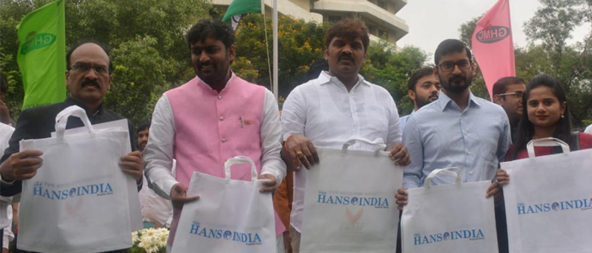 Mayor, GHMC chief laud The Hans India initiative