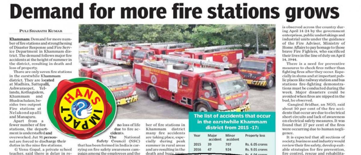 Fire Service Week celebrated