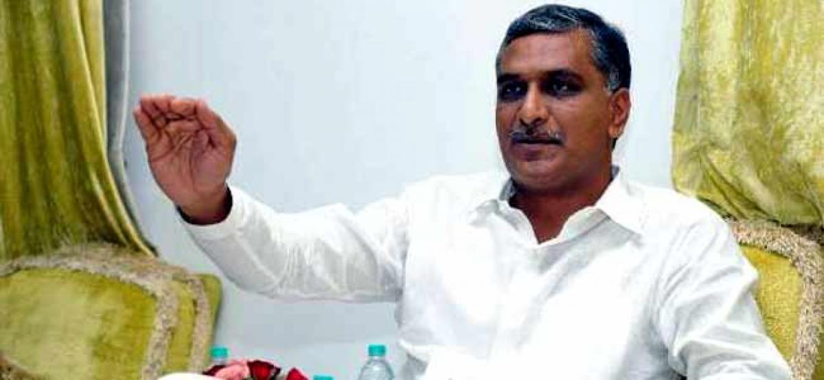 Harish Rao: Telangana Congress leaders blocking Kaleshwaram project