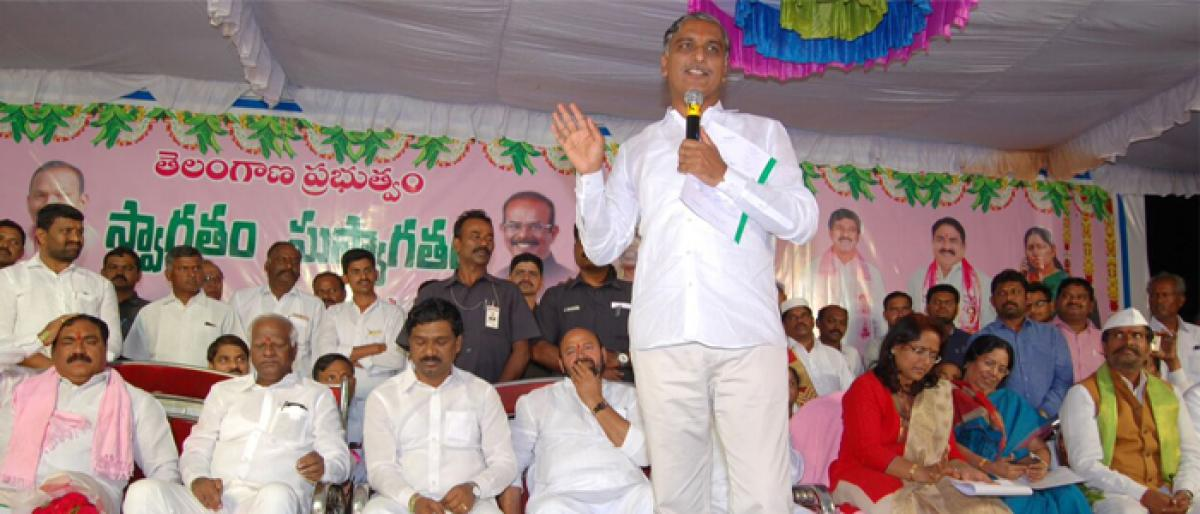 Don't neglect irrigation projects! Harish warns contractors