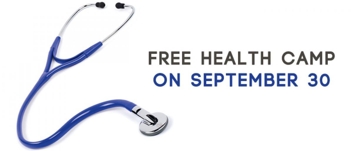 Free health camp on September 30 at MJ Naidu Hospital in Vijayawada
