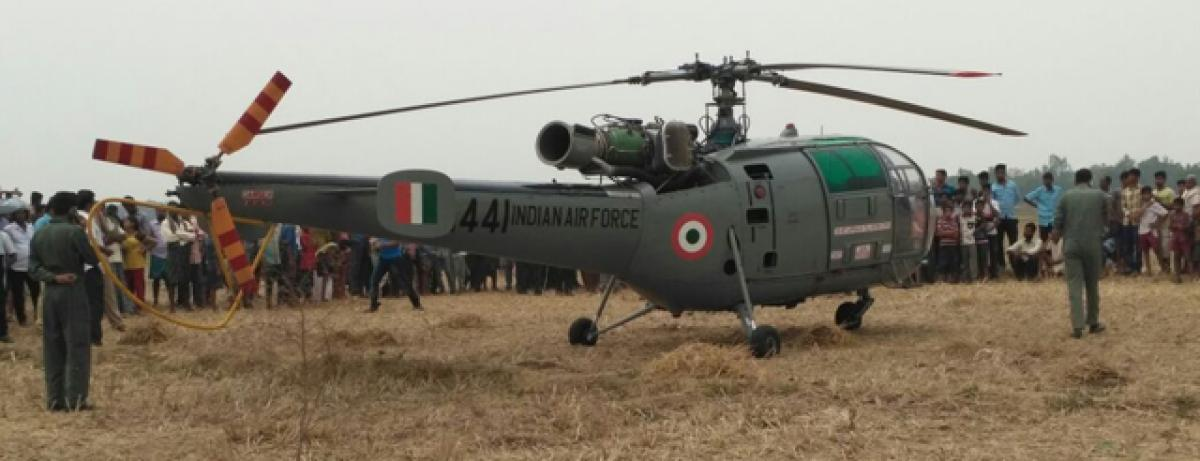 Indian Air Force chopper makes emergency landing