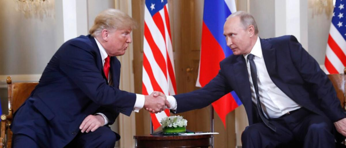 Trump promises as he opens summit with Putin