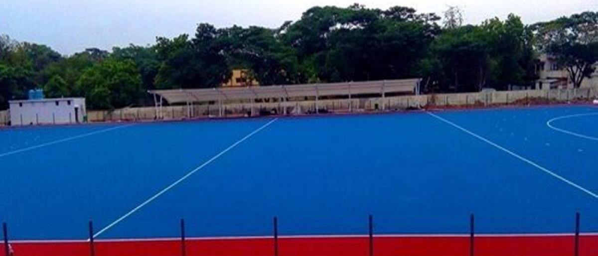World class synthetic tur installed at Chennai stadium