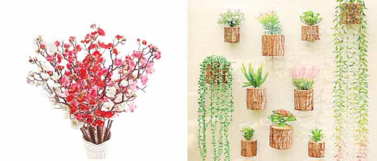 Using artificial flowers and plants skilfully