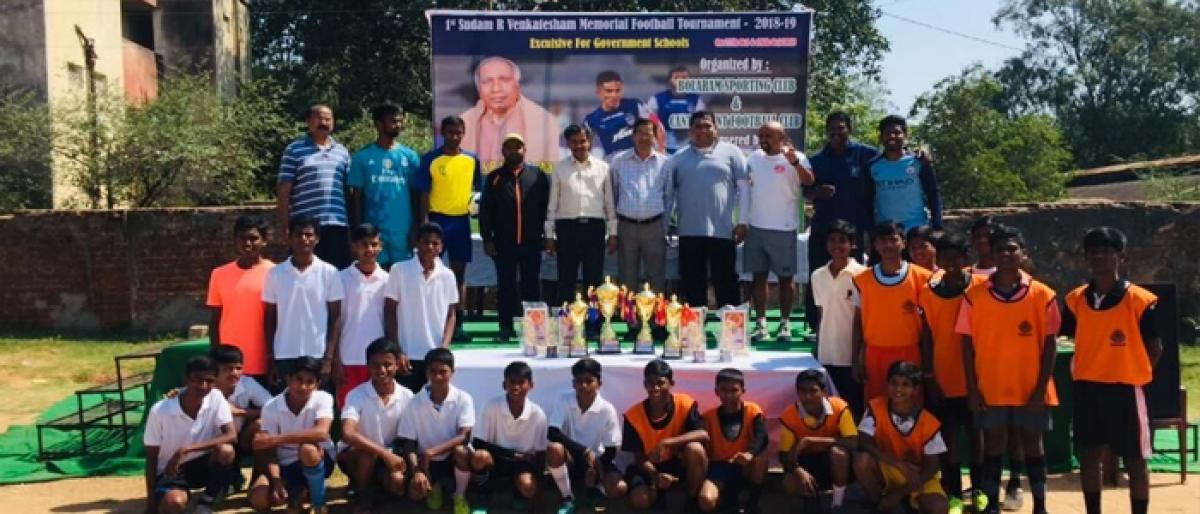 Results of Sudam R Venkatesham Memorial Inter School Football Tournament