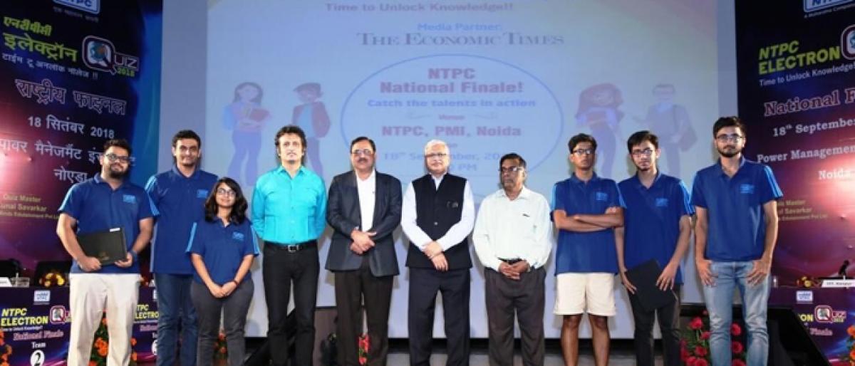 IIM-Indore wins NTPC Electron Quiz National 2018