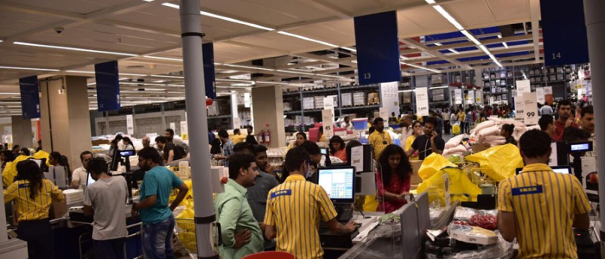 Crowd frenzy marks IKEA store launch in Hyderabad