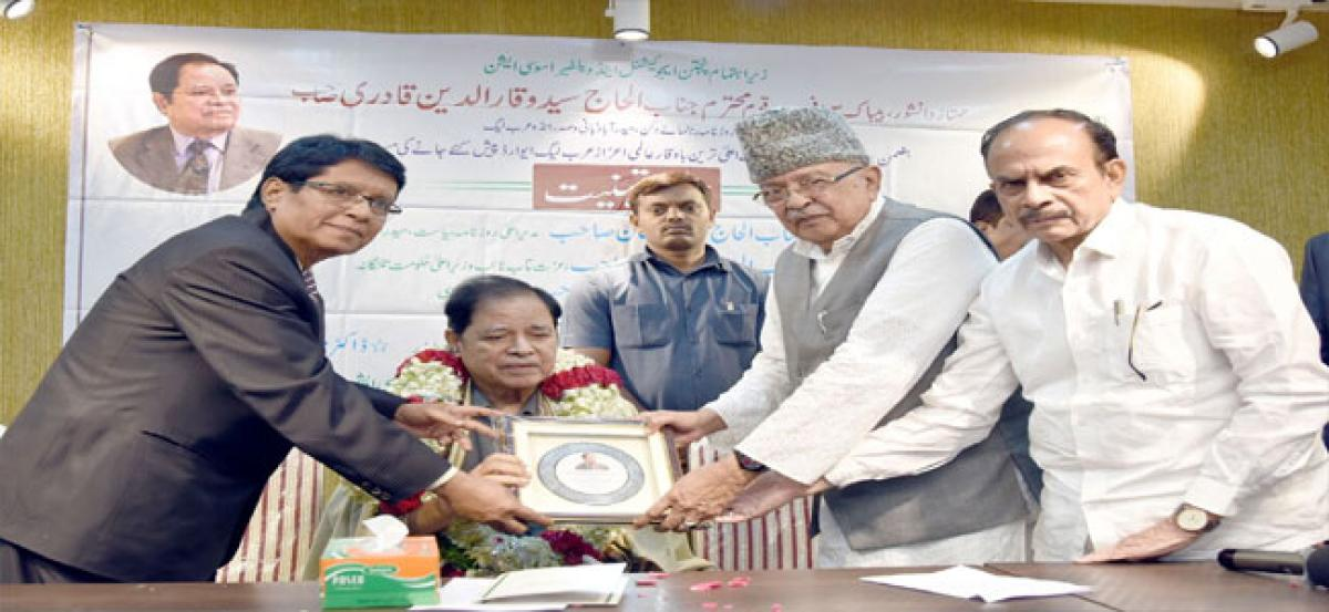 Indo Arab League Chairman felicitated