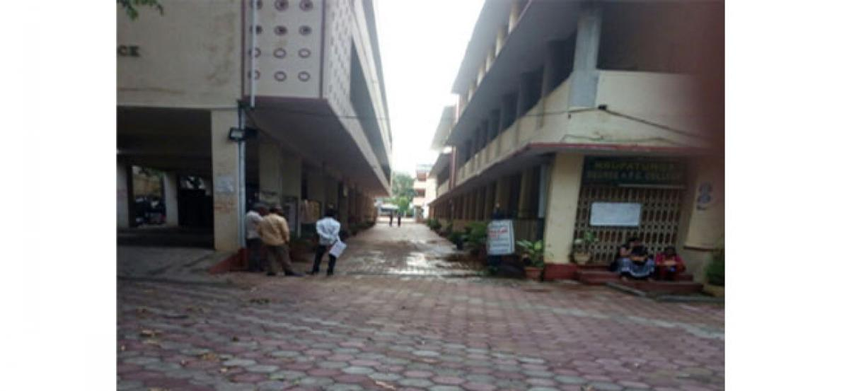 Students forced to write Maths paper in corridor