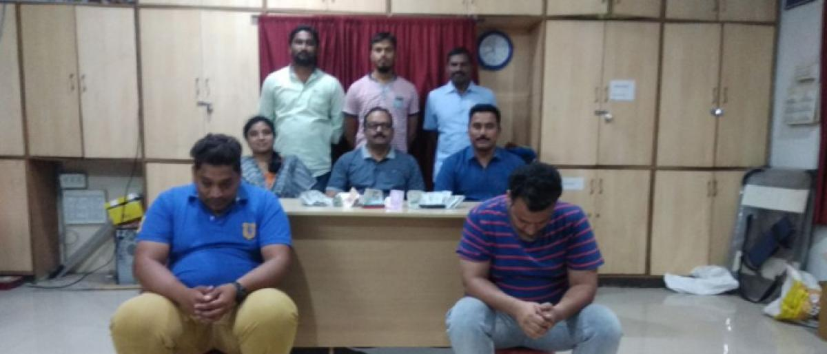 Two persons nabbed; Rs 81,000 cash seized