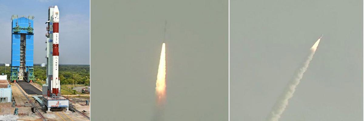 Sriharikota: ISRO launches HysIS, 30 other satellites on PSLV-C43