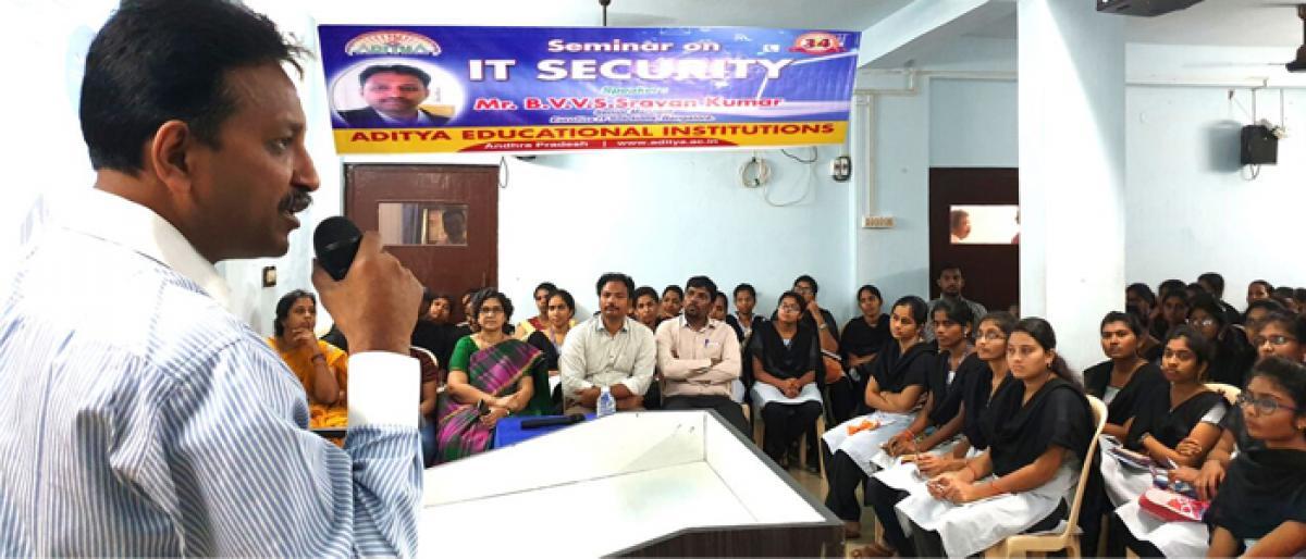 Seminar on IT security organised in Kakinada