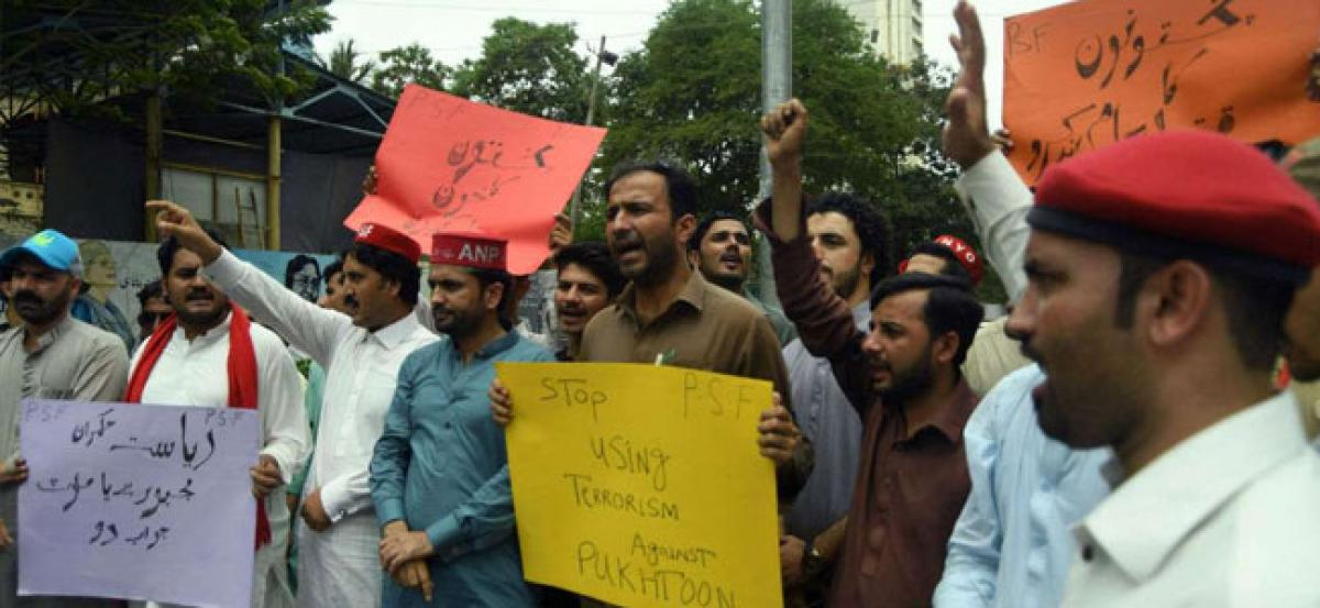 Protests staged against Pakistan army over Haroon Bilours death