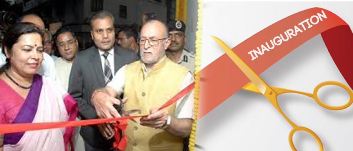 Delhi Lieutenant Governor Anil Baijal inaugurates revamped police booth at Khan Market