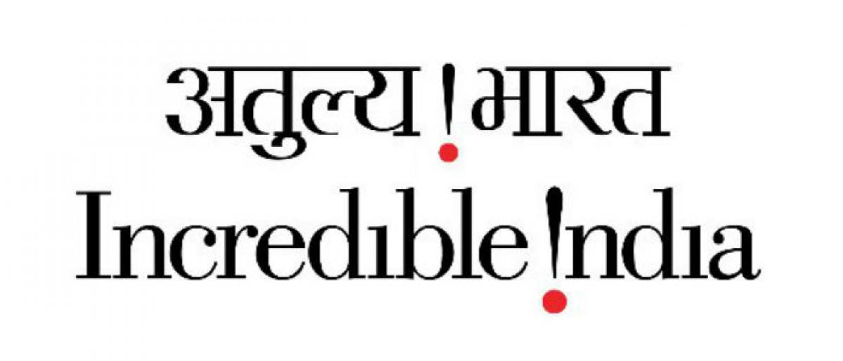 Incredible India logo to include words The land of Gandhi