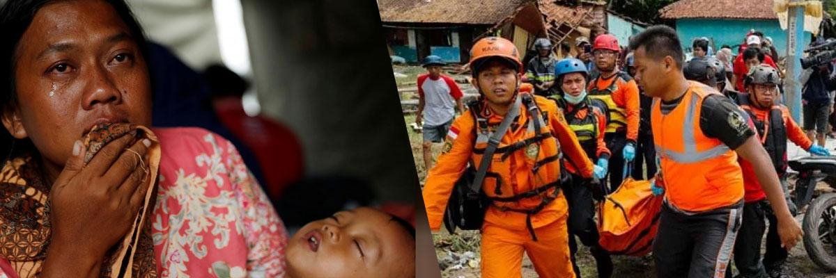 Indonesian rescuers use drones, sniffer dogs as tsunami death toll rises