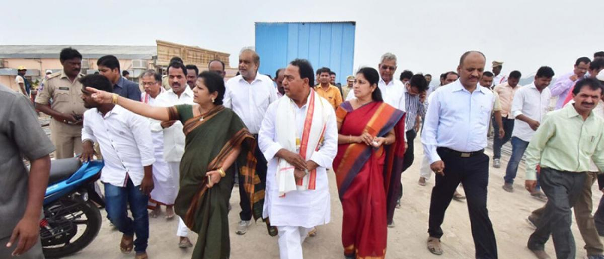 Complete Yadadri temple works by September-end: Minister to officials