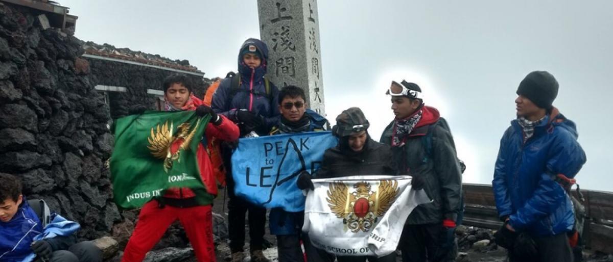 Indus school students conquer Mt Fuji