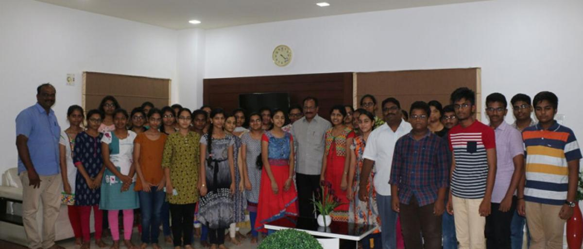 New Vision Jr College excels in Telangana Inter betterment exams