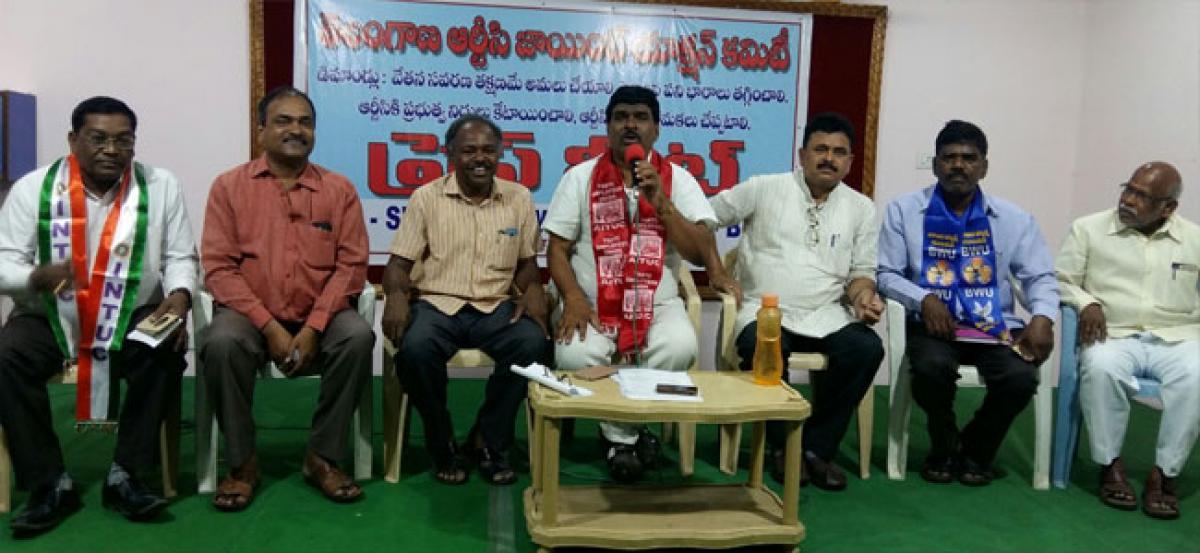 RTC JAC calls Maha Dharna for salaries