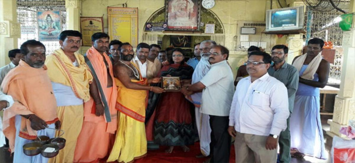 JC performs special pujas at Sangameshwar temple