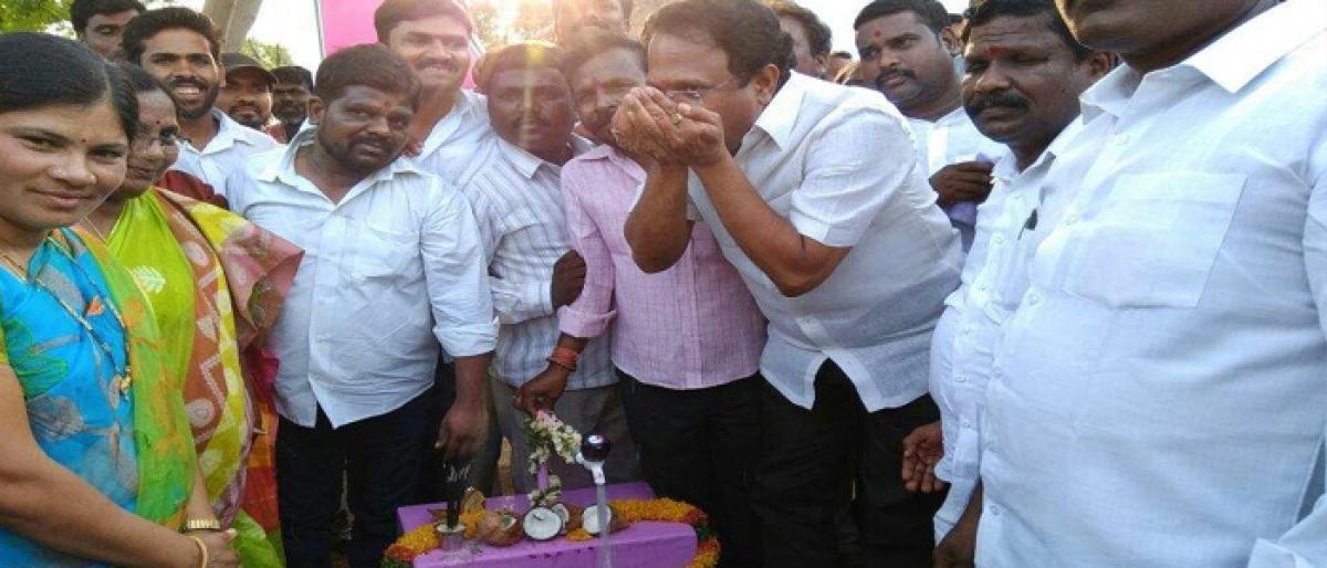 Mission Bhagiratha launched in Jadcherla mandal