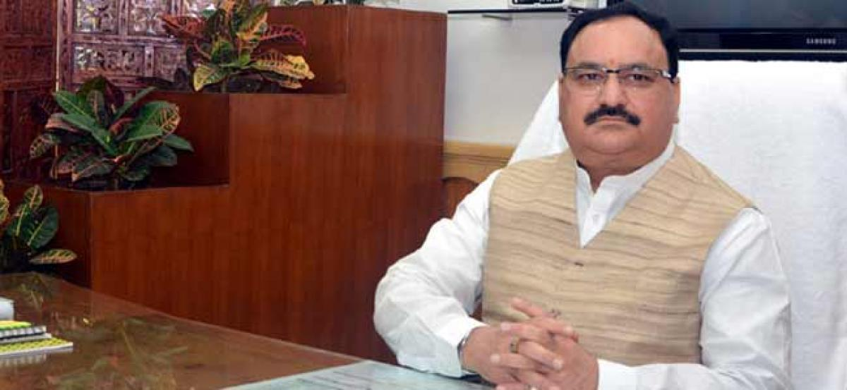 Union Health Minister blames TRS for blocking the growth of the state