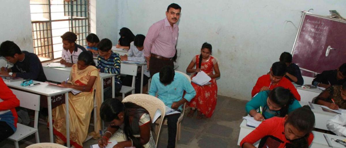 SSC exams begin peacefully in Jagtial
