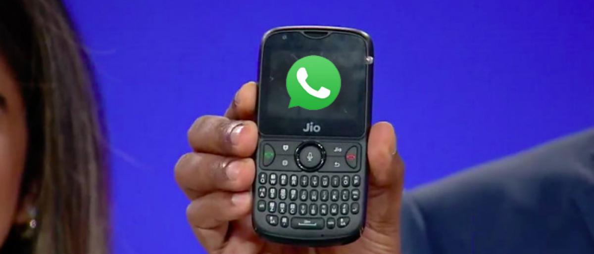 RJio launches Whatsapp on JioPhones