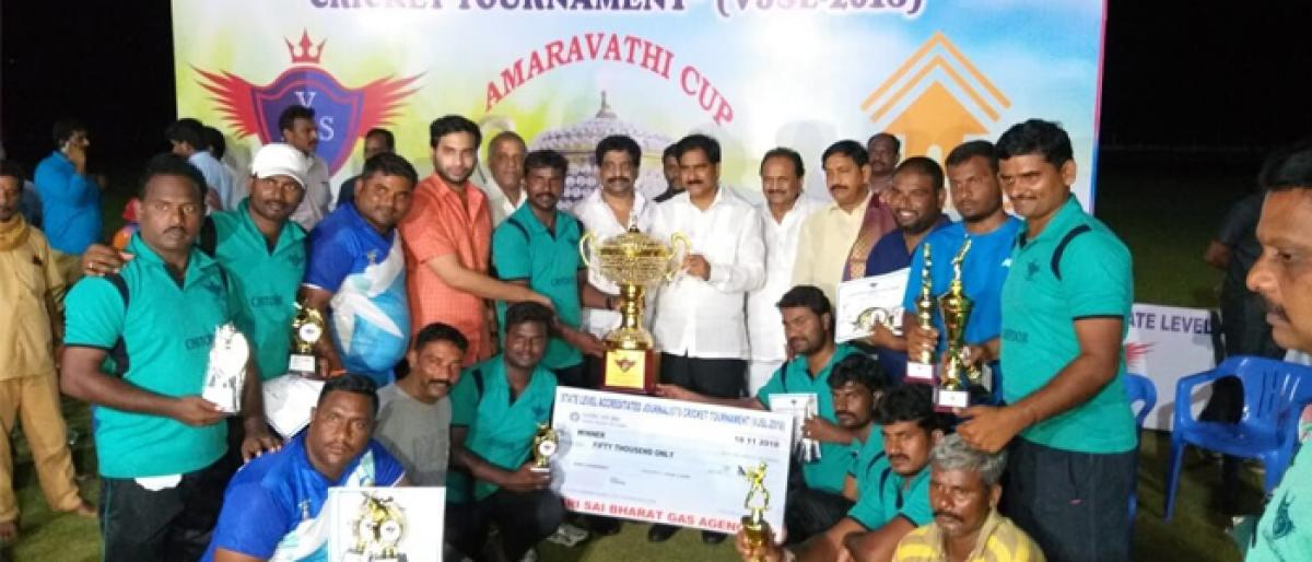 Chittoor team wins Accredited Journalists Trophy