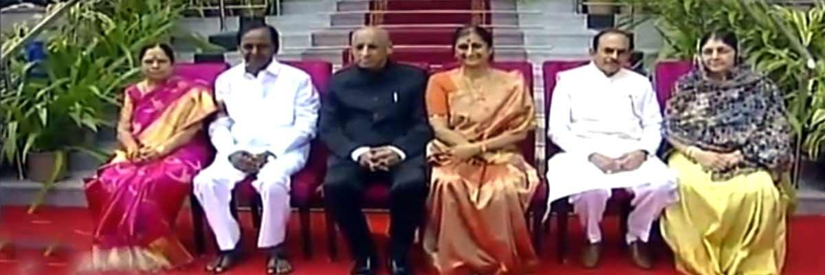KCR sworn-in, returns as Telangana CM for second straight term