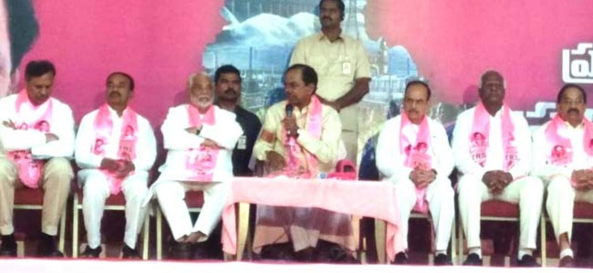 KCR announces 105 party candidate names