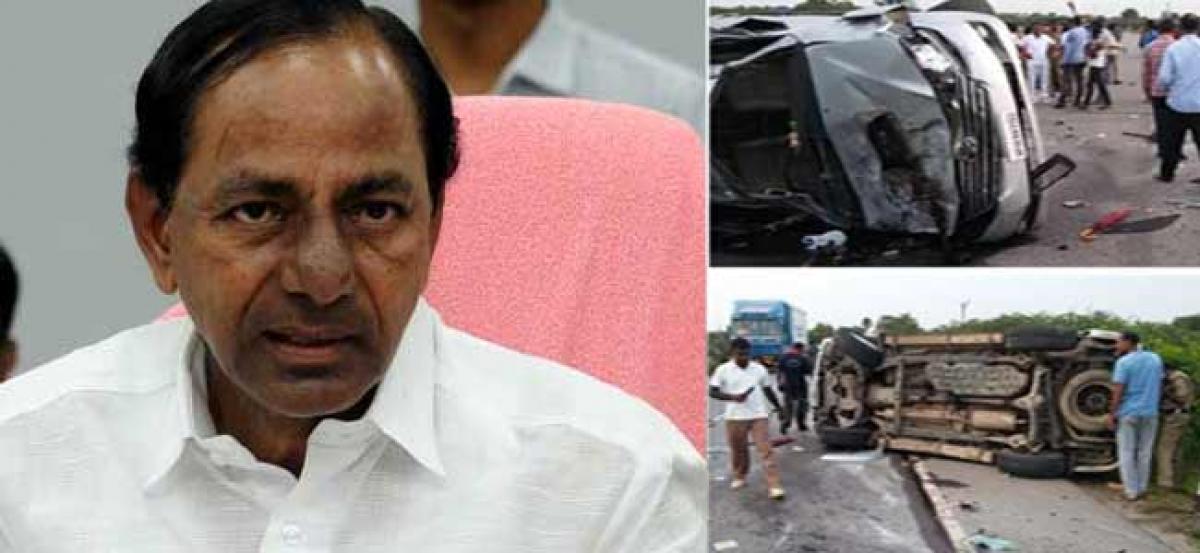 CM KCR express grief over Harikrishnas death