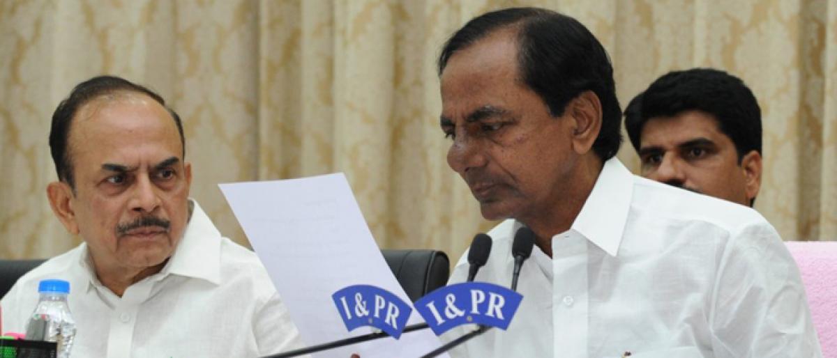 KCR Cabinet meet ahead of Pragati Nivedana Sabha