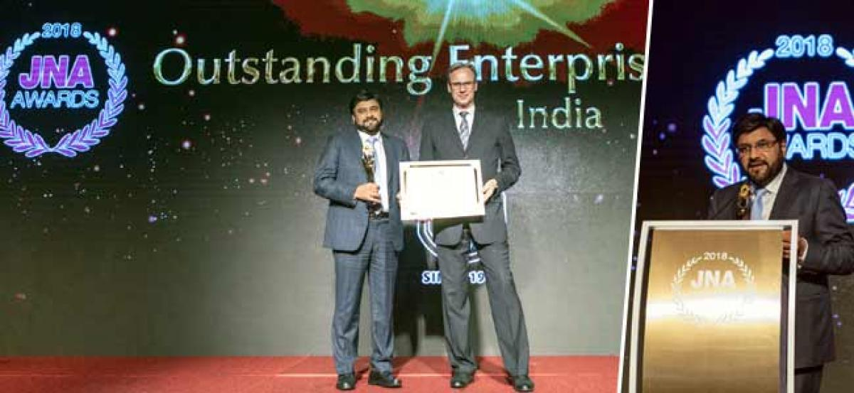 KGK Group recognised as the Outstanding Enterprise of the Year-India at JNA Awards 2018