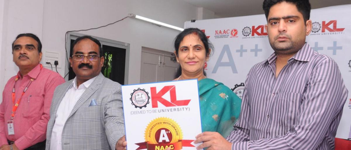 KL University gets A++ by NAAC