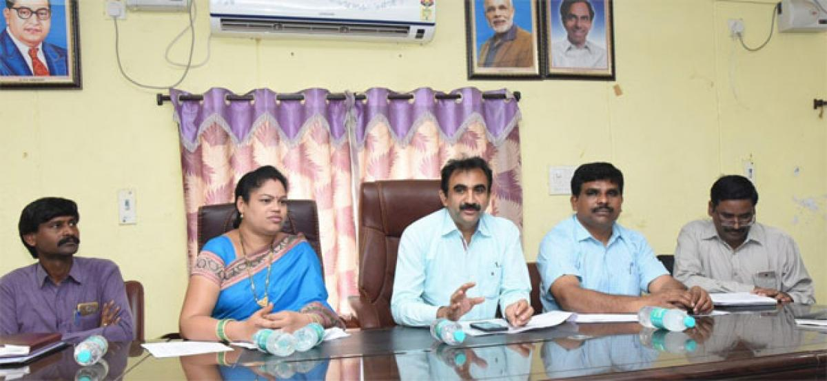 MLA, Collector distribute Kalyana Lakshimi cheques