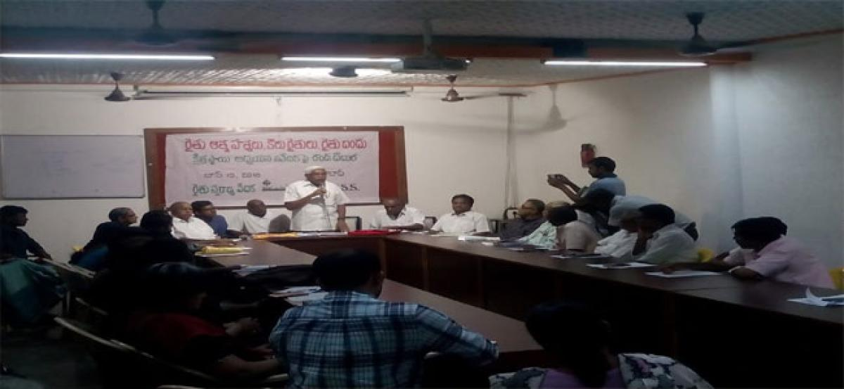 Kodandaram flays government on agri issues