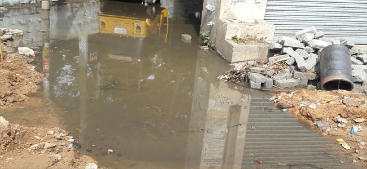 Clogged drains cause havoc