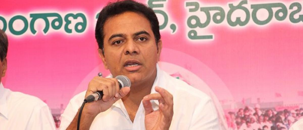 KTR hits back at CM Naidus comments on Hyderabad