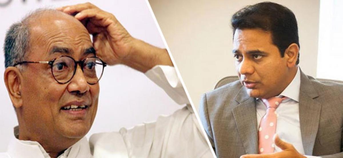 Congress condemns KTR for criticising Digvijay Singh