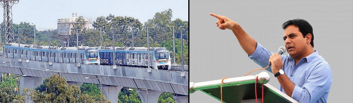 Hyderabad metro line to be extended to Shamshabad airport: KTR