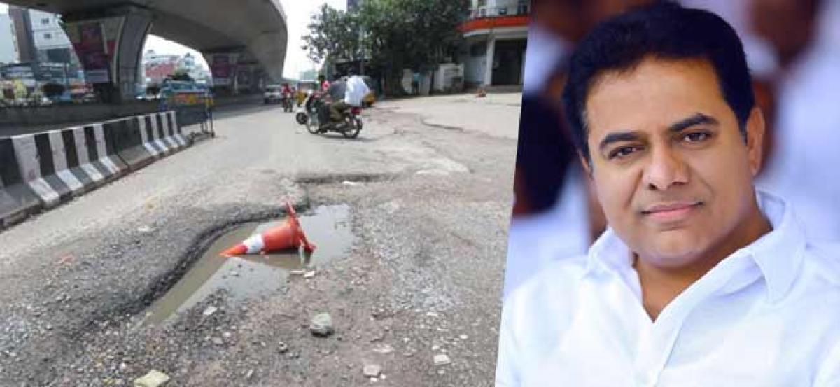 Bad Roads To Be Fixed Soon: KTR