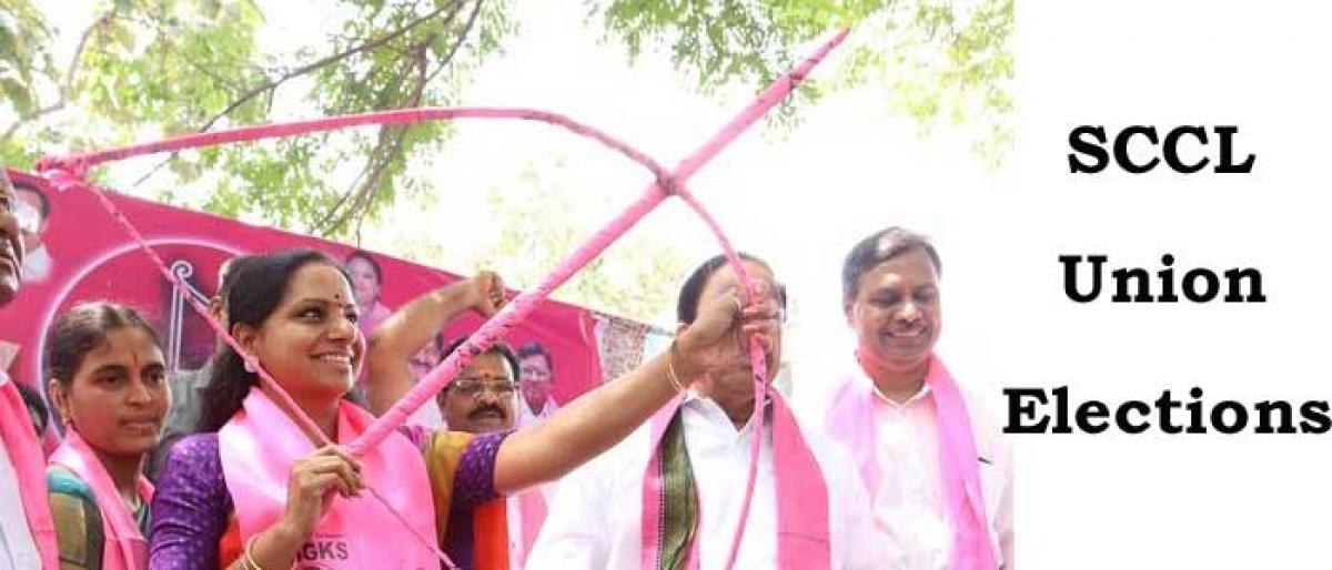 Kalvakuntla Kavitha showers sops on Singareni workers
