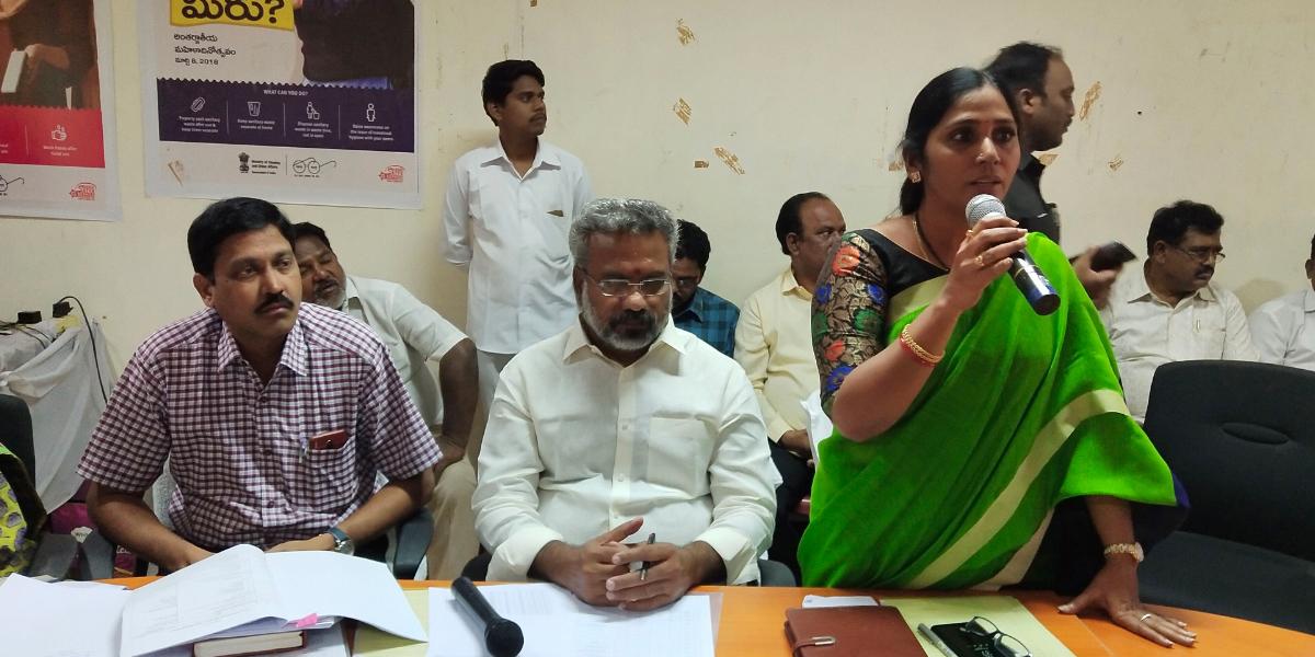 Meet reviews steps for Janmabhoomi programme in Kakinada