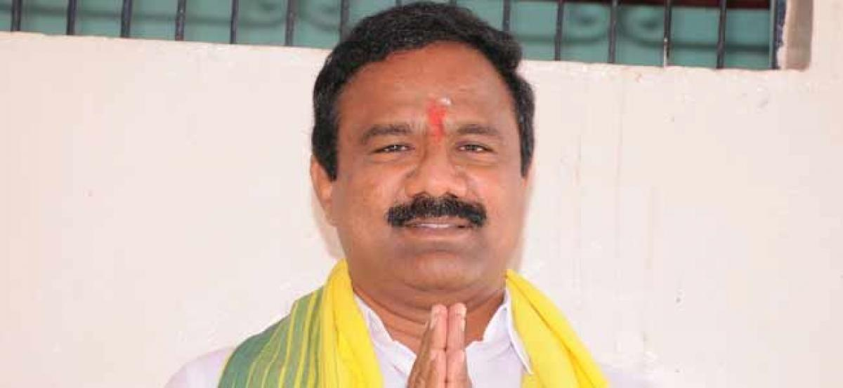 TDP Leader goes on Indefinite hunger strike in His Party Office