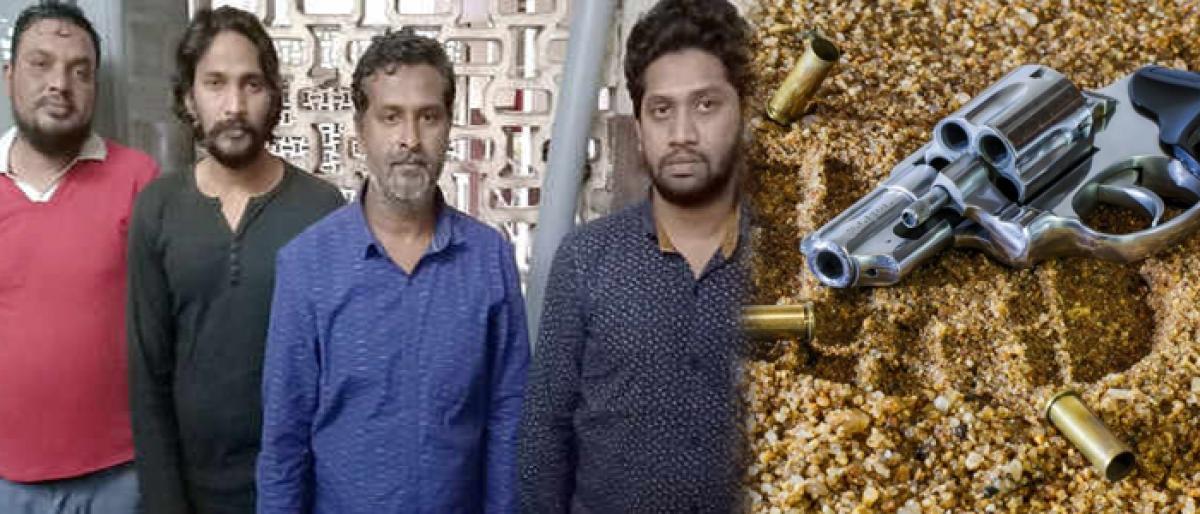 Kannada movie hero Jaguar Jaggi arrested along with associates for arms racket.