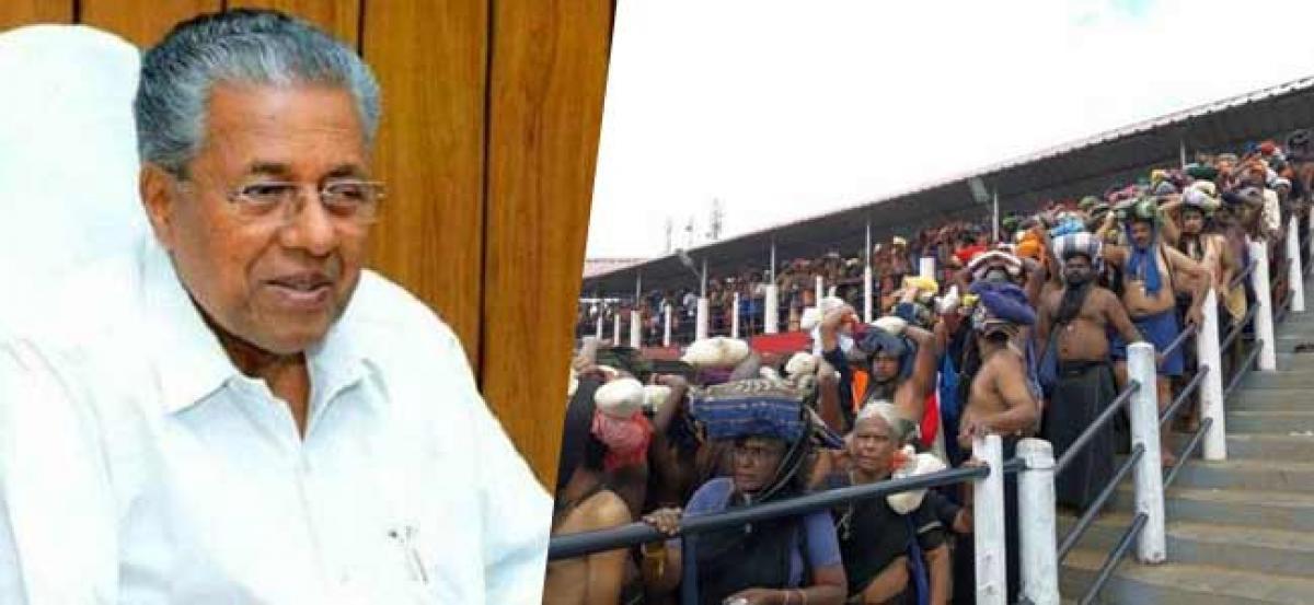 Kerala CM justifies police action in Sabarimala