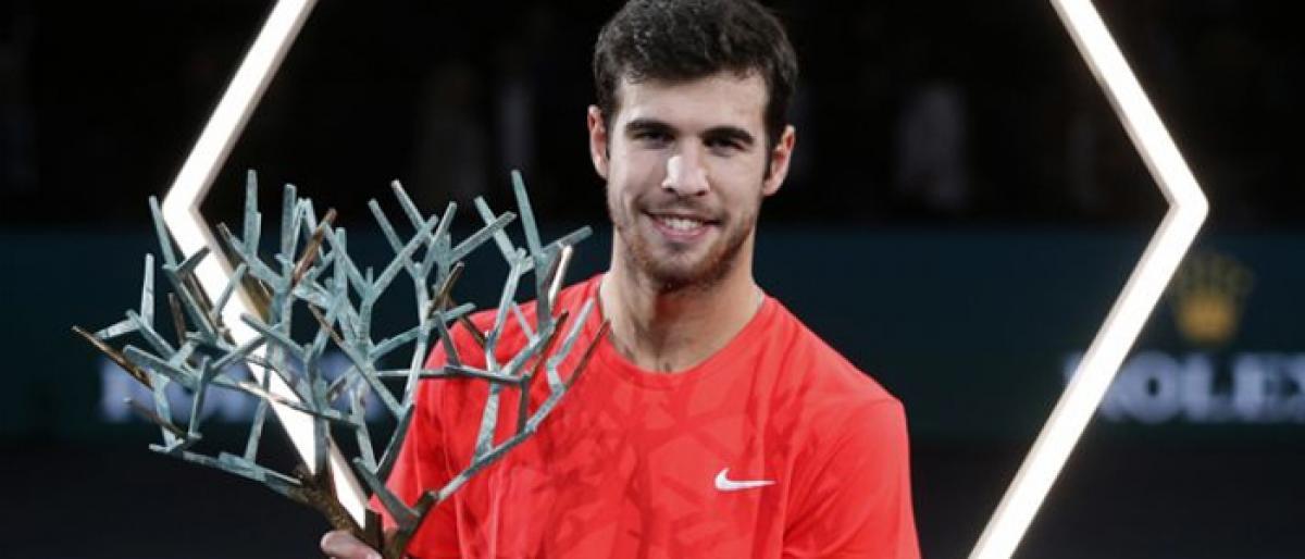 Khachanov stuns Djokovic in Paris to win maiden Masters title